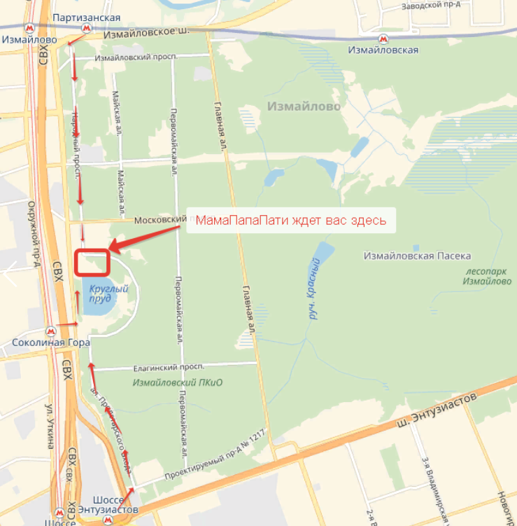 Карта измайловского парка картинки